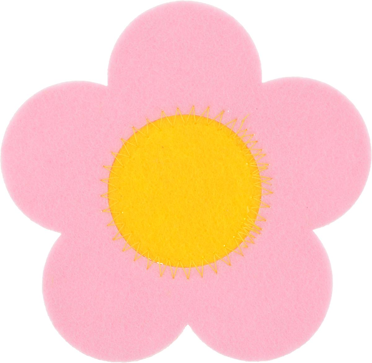 Подставка под горячее Marmiton Цветочек, цвет: розовый, диаметр 11 см16159_розовыйПодставка Marmiton Цветочек изготовлена из фетра в виде цветочка. Изделие предназначено для защиты поверхности стола от воздействия высоких температур, механических повреждений и загрязнений.