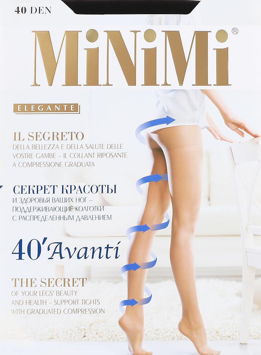 Колготки Minimi Avanti 40, цвет: черный (nero). Размер 3 (M)Avanti 40Эластичные поддерживающие колготки Avanti 40 с распределенным давлением, гигиеничной ластовицей, плоским швом иукрепленным мыском. Сформированная ступня. Плотность:40 ден.
