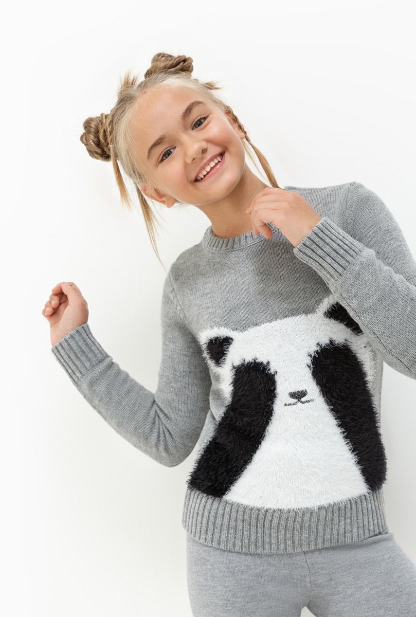 Джемпер для девочки Acoola Sweden, цвет: светло-серый. 20210310055. Размер 14020210310055Джемпер для девочки Acoola выполнен из качественного материала. Модель с круглым вырезом горловины и длинными рукавами.