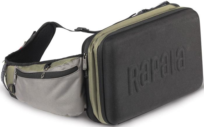 Сумка рыболовная Rapala Sling Bag Magnum46006-LKСумка предназначена для любителей ходовой рыбалки. В нее поместятся все необходимые приманки, оснастки, которые не требуют основательной переподготовки снасти. Сумка имеет полужесткие и жесткие стены. Это было создано с целью защиты переносимого от механических повреждений.
