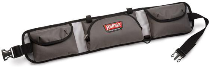 Пояс рыболовный Rapala Sportsman 10 Tackle Belt, цвет: серый46007-2Пояс Rapala Sportsman 10 Tackle Belt серая изготовлен изводонепроницаемой ткани, занимает мало места, новмещает большой набор принадлежностей. Вданной модели главное отделение намолнии. Пояс имеет тридополнительных кармана, атакже дополнительные крепления дляинструментов ипринадлежностей плюс хомуты длякрепления удилища.