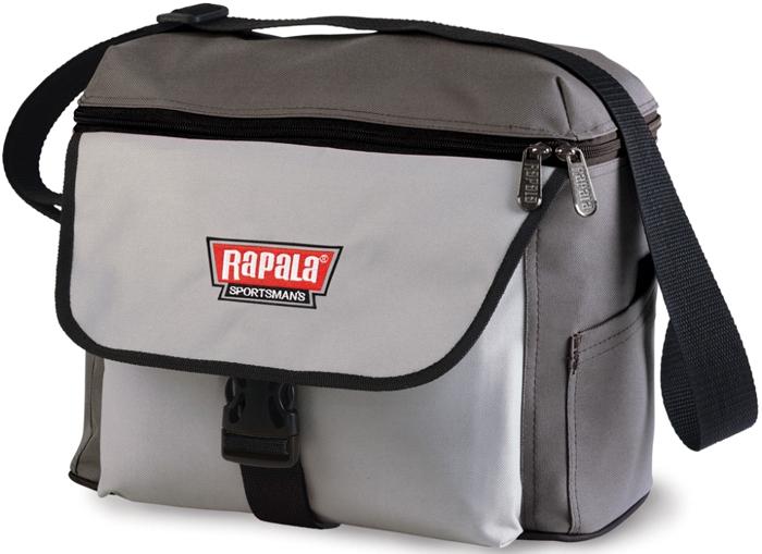 Сумка рыболовная Rapala Sportsman 12 Shoulder Bag, цвет: серый46008-2Бережное хранение рыболовных принадлежностей является одной из возможностей на долгое время сохранить их первоначальную функциональность и эффективность. Транспортировка катушек, миниатюрных приманок и крючков требует особой осторожности, ведь хрупкие и миниатюрные детали могут быть повреждены даже по итогам, на первый взгляд, осторожного перемещения. Кроме того, отдельные составляющие и элементы снаряжения из металла, подверженные коррозии, при попадании влаги теряют свои свойства. Исключить возможные случаи деформации позволит специальная сумка Rapala Sportsman 12 Shoulder Bag, которая рассчитана не только на хранение снаряжения рыболова, но также может быть задействована в качестве повседневной спортивной сумки. При изготовлении сумки Rapala Sportsman 12 Shoulder Bag использована специализированная водонепроницаемая ткань. Именно она и защищает хрупкое оборудование от деформации и препятствует намоканию всего содержимого.