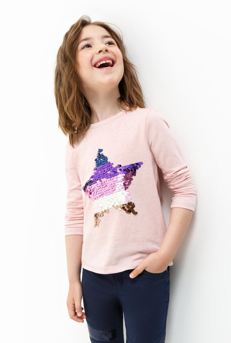 Лонгслив для девочки Acoola Tango, цвет: светло-розовый. 20220100132. Размер 9820220100132Лонгслив для девочки Acoola выполнен из хлопка и эластана. Модель с круглым вырезом горловины и длинными рукавами.