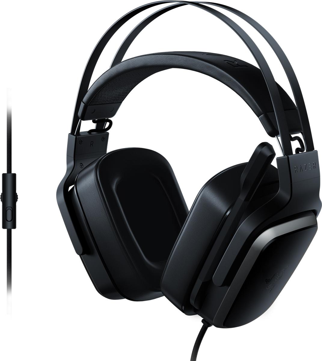 Razer Tiamat 2.2 V2 игровая гарнитураRZ04-02080100-R3M1Хотите услышать грохот в джунглях и воспроизводить самые глубокие басы? Выбирайте Razer Tiamat 2.2 V2!Эта мощнейшая игровая гарнитура оснащена дополнительными басовыми динамиками в каждой чашке наушников, чтобы максимально прокачать звук в ваших любимых играх.Кроме того, благодаря программе Razer Surround для создания виртуального объемного звука 7.1, вы услышите каждый шорох вокруг вас с абсолютной четкостью и сможете использовать это для получения тактического преимущества в игре.Уникальная особенность Razer Tiamat 2.2 V2 — не один, а два басовых динамика в каждой чашке наушников, чтобы каждый взрыв или автоматная очередь во время игры чувствовались как удар под дых.Результатом многих лет эргономических разработок и проверок профессиональными геймерами стала уникальная конструкция оголовья Razer Tiamat 2.2 V2 с оптимальным распределением веса и уменьшенной силой сжатия оголовья. Благодаря амбушюрам из превосходной искусственной кожи вы ощутите настоящий комфорт и отсечете все ненужные звуки.Гарнитура Razer Tiamat 2.2 V2 позволяет погрузиться в виртуальный объемный звук игры и улучшает восприятие ситуации на слух. Вы всегда услышите, где находится враг или друг, чтобы нанести точный удар. Кроме того, объемный звук можно настроить под себя с помощью Razer Synapse, например, отрегулировать оптимальное размещение аудиоканалов под собственные предпочтения.Цифровой микрофон Razer Tiamat 2.2 V2 можно опустить вниз или поднять вверх — когда это вам нужно. Этот однонаправленный микрофон точно воспроизводит естественный звук, и ваши друзья услышат ваш голос таким, каким он и должен быть — голосом победителя.Быстро управляйте громкостью или отключайте микрофон, не открывая элементы управления на компьютере, чтобы полностью сосредоточиться на игре. В комплект входит удлинительный разделительный кабель для настольных компьютеров и ноутбуков с раздельными разъемами для аудио и микрофона.Как выбрать игровые наушники. Статья 