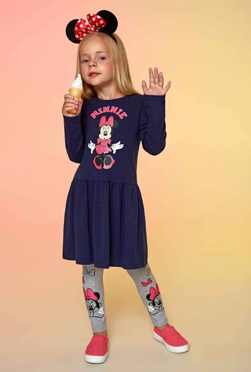 Платье для девочки Acoola Wiluna, цвет: темно-синий. 20220200203. Размер 12820220200203Платье для девочки Acoola выполнено из качественного материала. Модель с длинными рукавами и круглым вырезом горловины.