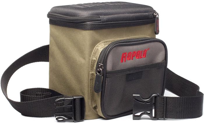 Cумка рыболовная Rapala Lure Bag46028-1Это удобная небольшая поясная сумка для приманок. Вертикальные карманы для хранения 16 приманок. Горизонтальный верхний удобный доступ в сумку. Передний карман для мелочей. Отверстие для слива влаги с приманок и аксессуаров.