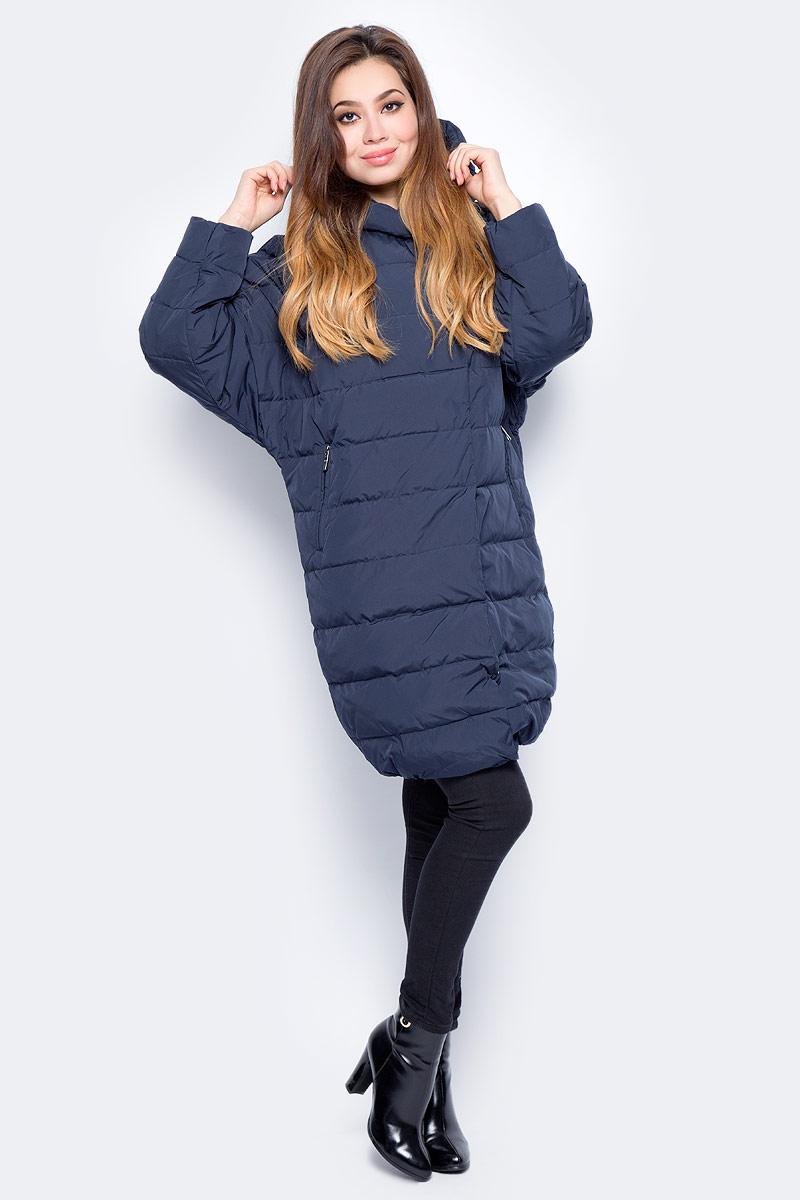 Пуховик женский Baon, цвет: синий. B007523_Dark Navy. Размер XL (50) джемпер женский baon цвет серый меланж b166521 размер xl 50