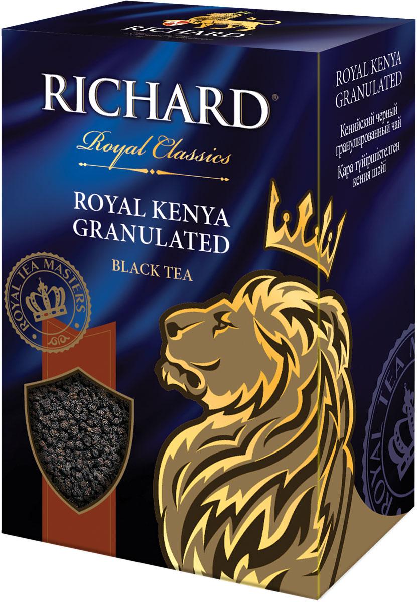 Richard Royal Kenya Granulated чай черный крупная гранула, 200 г100171Кенийский чёрный гранулированный чай. Крупная черная гранула с насыщенным мягким вкусом настоя, который идеален с молоком.