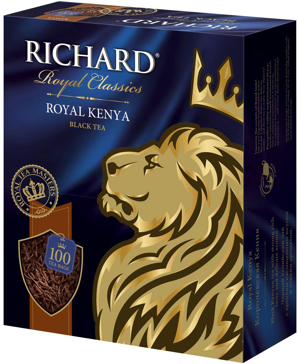 Richard ричард роял Кения чай чёрный в пакетиках, 100 шт100438Вкус кенийского чая терпкий, но мягкий и очень ароматный. Настой темный с красным оттенком, как закат в Кении.Всё о чае: сорта, факты, советы по выбору и употреблению. Статья OZON Гид