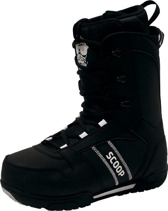 Ботинки для сноуборда мужские BF Snowboards Scoop, цвет: черный. Размер 45ScoopБотинки для сноуборда BF Snowboards Scoop- одни из лучших сноубордических ботинков для начального и среднего уровня. Ботинки отлично садятся на ногу и делают катание комфортным в течении всего дня. Классическая шнуровка самая надежная из придуманных, поэтому у вас не будет неприятных сюрпризов на склоне.Максимально сочетается с доской и креплениями Scoop.
