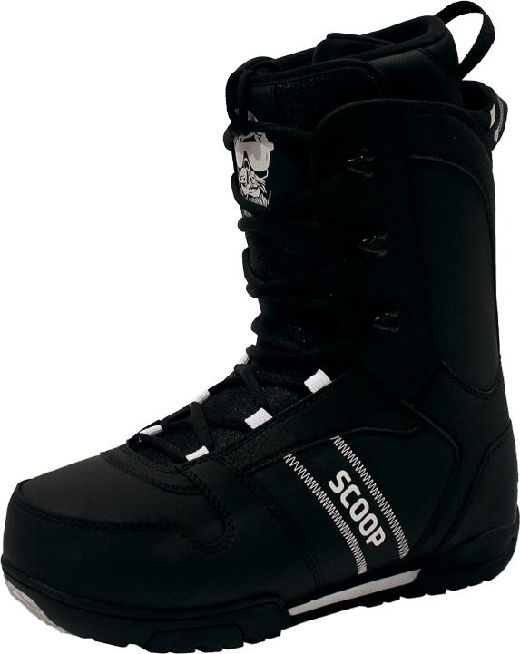 Ботинки для сноуборда мужские BF Snowboards Scoop, цвет: черный. Размер 46ScoopБотинки для сноуборда BF Snowboards Scoop- одни из лучших сноубордических ботинков для начального и среднего уровня. Ботинки отлично садятся на ногу и делают катание комфортным в течении всего дня. Классическая шнуровка самая надежная из придуманных, поэтому у вас не будет неприятных сюрпризов на склоне.Максимально сочетается с доской и креплениями Scoop.