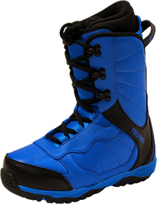 """Очень удобные ботинки BF Snowboards """"Techno"""" для самых маленьких сноубордистов. Надежные металлические крючки шнуровки. Двухслойная резиновая подошва обеспечивает хорошее сцепление на снегу и облегчает управление доской. Яркий, привлекательный дизайн и качественные материалы используются в производстве модели ботинок Techno.    Как выбрать сноуборд. Статья OZON Гид"""