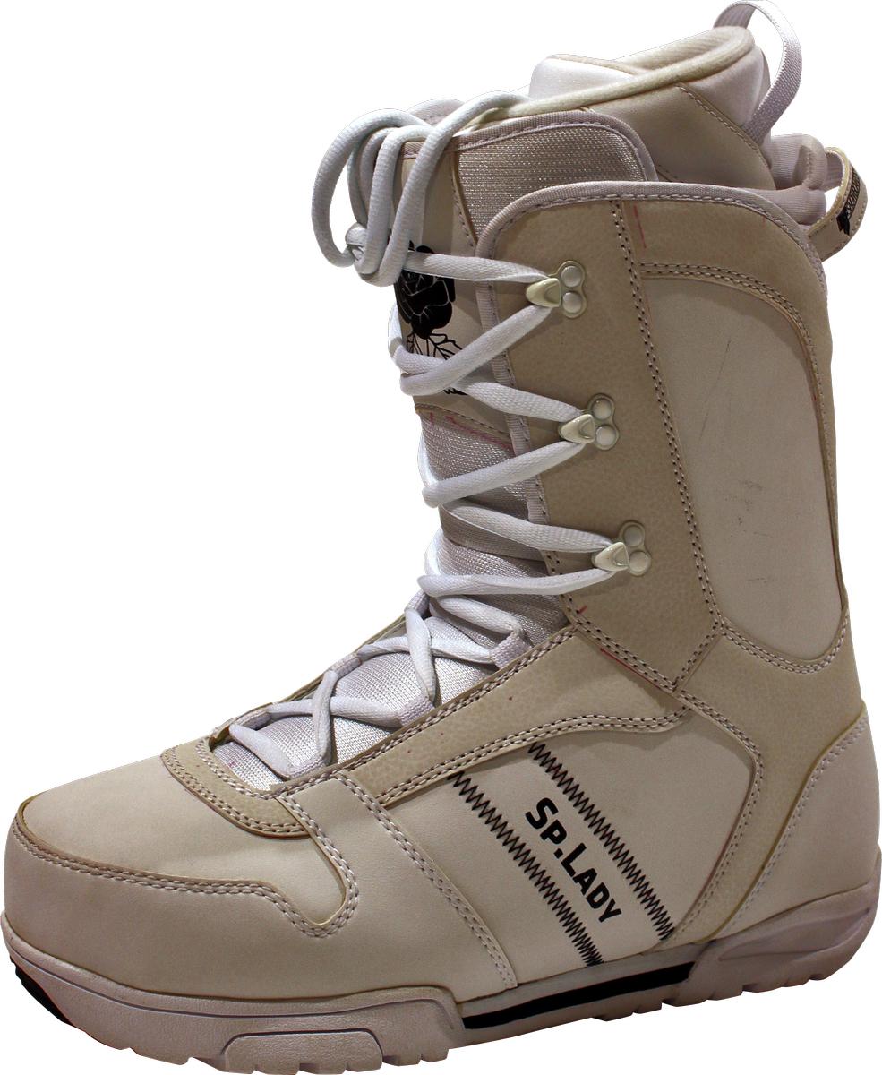 Ботинки для сноуборда женские BF snowboards Special Lady, цвет: белый. Размер 39Special LadyЖенские ботинки для начального и среднего уровня. Ботинки отлично садятся на ногу и делают катание комфортным в течении всего дня. Классическая шнуровка самая надежная из придуманных, поэтому у вас не будет неприятных сюрпризов на склоне! Максимально сочетается с доской и креплениями Special Lady