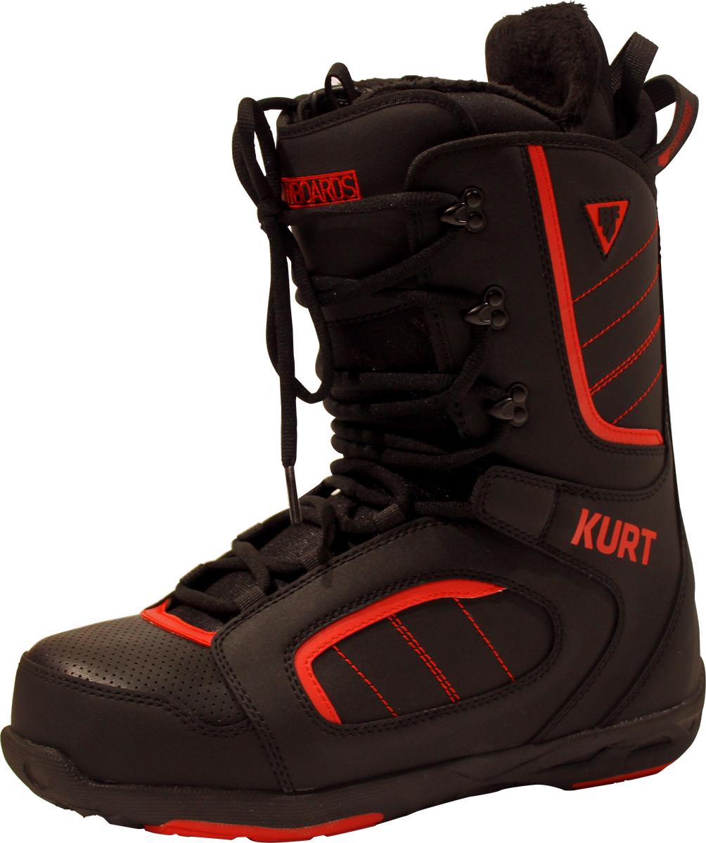 Ботинки для сноуборда мужские BF snowboards Kurt, цвет: черный. Размер 41