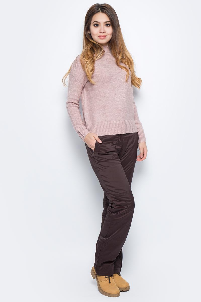 Брюки женские Baon, цвет: коричневый. B297505_Dark Chocolate. Размер XL (50)B297505_Dark ChocolateЖенские утепленные брюки Baon отлично подойдут для холодной погоды. Модель выполнена из водоотталкивающей ткани на мягкой подкладке. Брюки застегиваются на кнопку в поясе и имеют ширинку на застежке-молнии, также имеются шлевки для ремня. Спереди модель дополнена двумя врезными карманами на застежках-молниях. Внизу брючины дополнены вшитыми застежками-молниями.