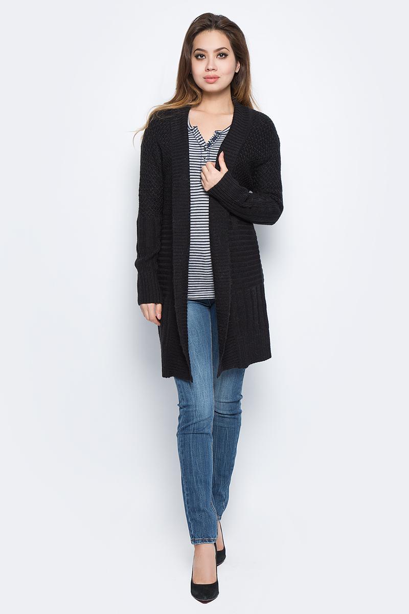 Кардиган женский Baon, цвет: черный. B147508_Black. Размер XL (50) кардиган женский baon цвет черный b147505 black размер xl 50