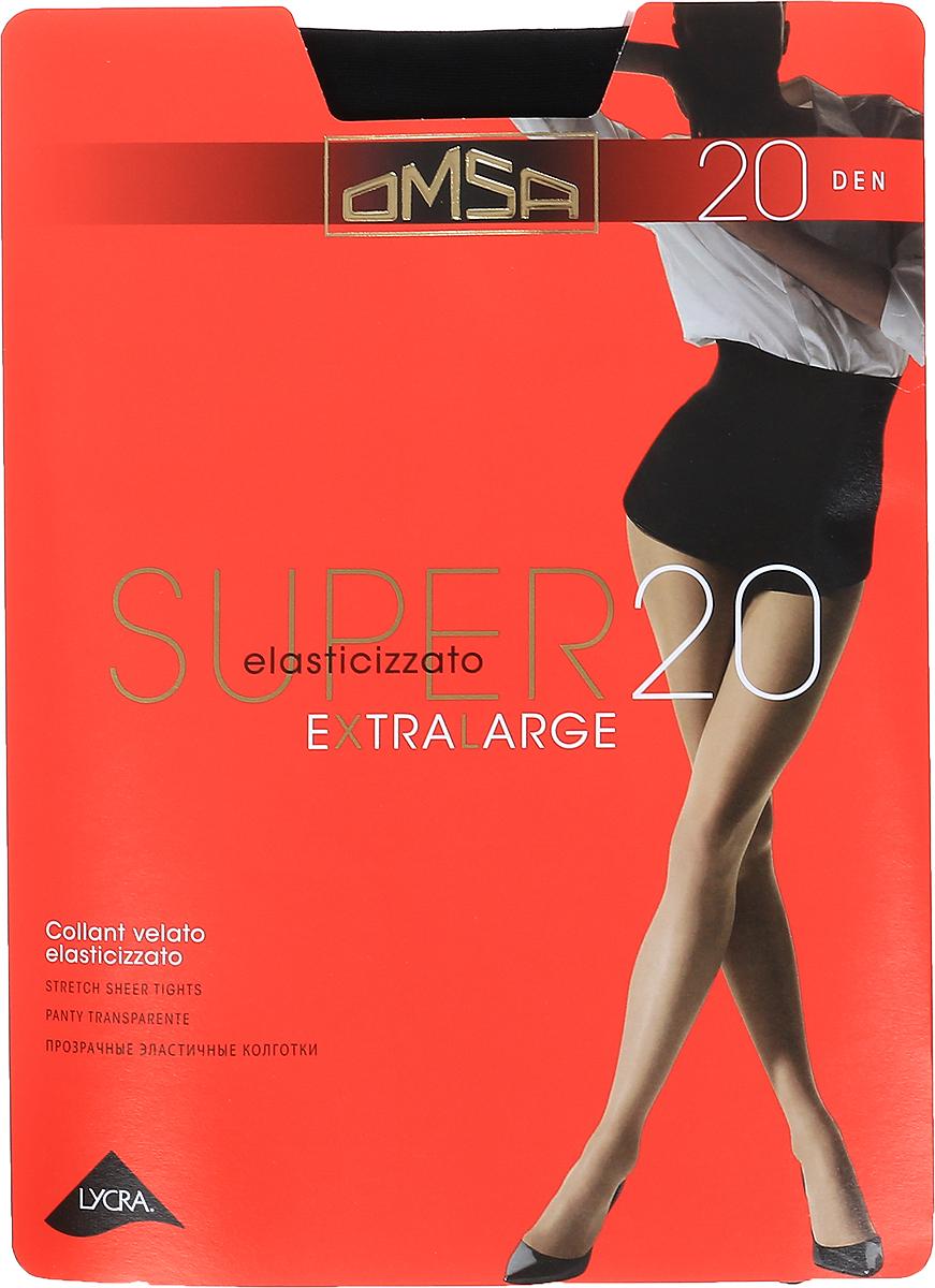 Колготки Omsa Super 20, цвет: Nero (черный). Размер 5 колготки omsa superlativa размер 3 плотность 20 den nero