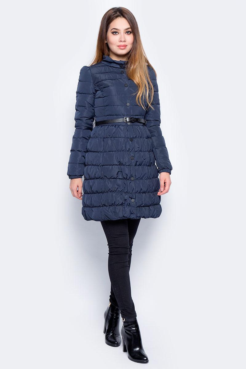 Пуховик женский Baon, цвет: синий. B007533_Dark Navy. Размер S (44) пуховик женский baon цвет черный b016515 размер s 44
