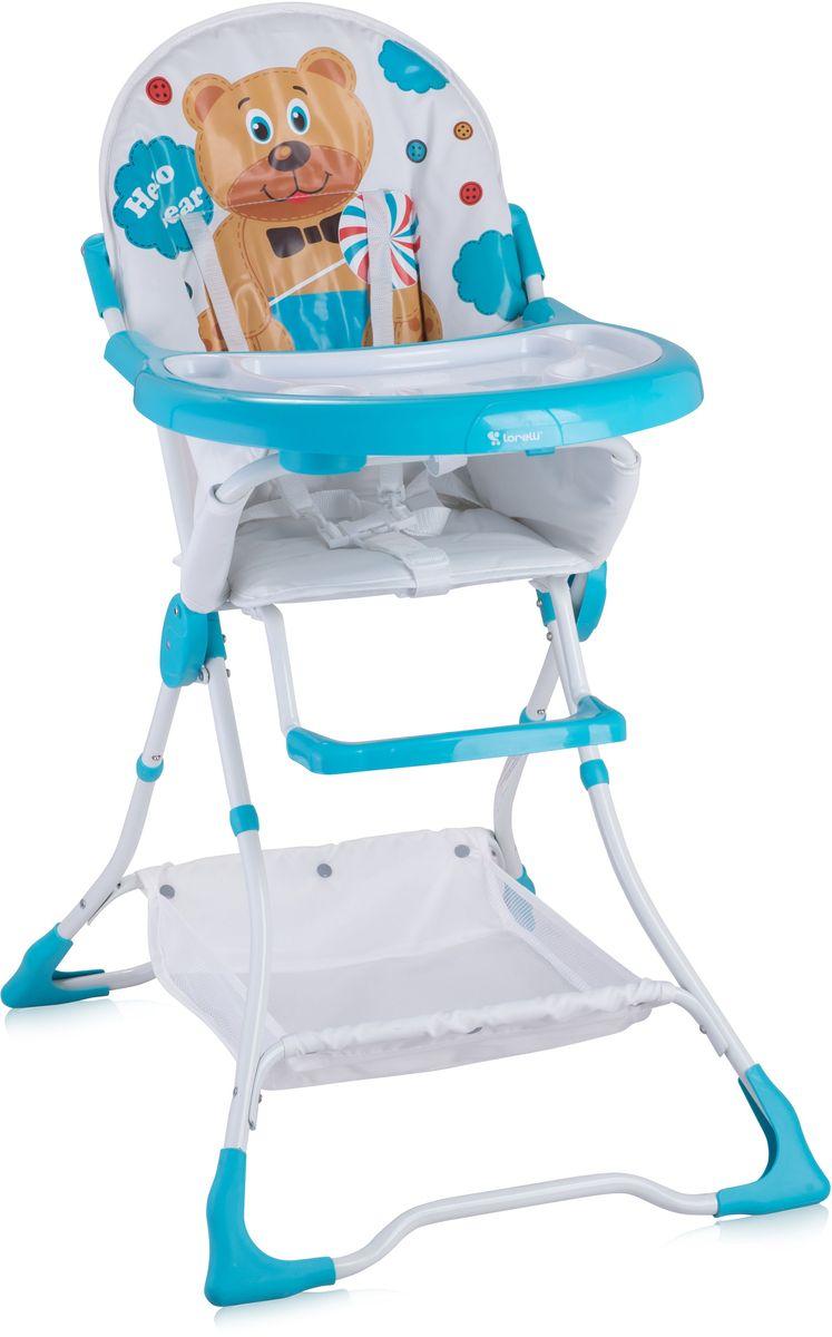 Lorelli Стульчик для кормления Bravo белый бирюзовый 10100061718 стульчики для кормления lorelli стульчик для кормления lorelli candy