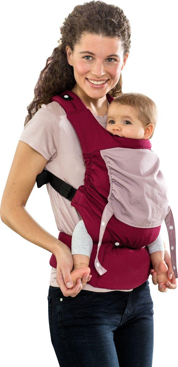 Amazonas Эргономичный слинг-рюкзак Amazonas Smart Carrier цвет бордовый - Рюкзаки, слинги, кенгуру