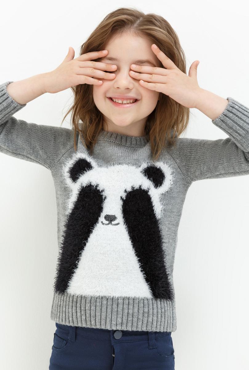 Джемпер для девочки Acoola Sweden, цвет: светло-серый. 20220310051. Размер 11620220310051Джемпер для девочки Acoola выполнен из качественного материала. Модель с круглым вырезом горловины и длинными рукавами.