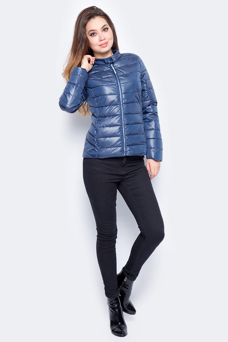 Куртка женская Baon, цвет: синий. B037566_Dark Navy. Размер M (46)B037566_Dark Navy