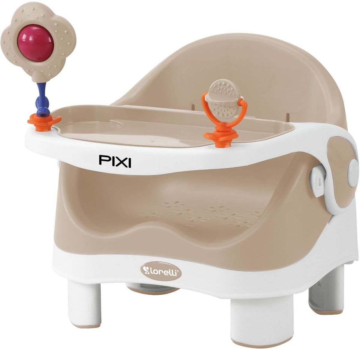 Lorelli Стульчик для кормления Pixi бежевый белый 10100282 - Все для детского кормления
