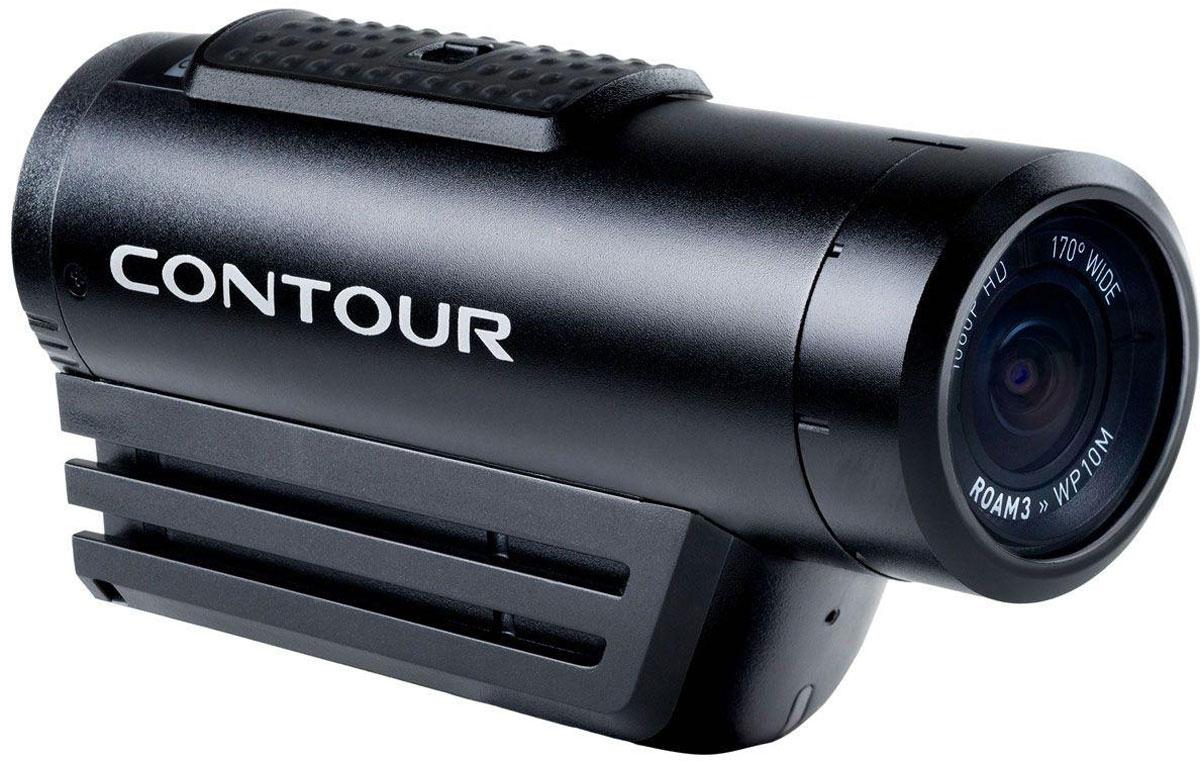 Contour Roam 3, Black экшн-камера23400Contour Roam3 - экшн-камера, созданная специально для тех, кто увлекается экстримом, спортом и активным времяпрепровождением. Эту камеру можно погружать под воду без дополнительного бокса на глубину до 10 метров. Она заключена в ударопрочный корпус и подходит для крепления на шлем или штатив. Countour Roam 3 все также может производить Full HD запись видео с разрешением 1920 х 1080 пикселей при скорости 30 кадров в секунду, причем при понижении качества скорость воспроизведения возрастает почти в два раза. Кроме того, экшн-камера оснащена объективом с углом обзора в 170 градусов, а специальный лазерный указатель позволит более точно выровнять изображение по горизонтали. Contour Roam3 можно легко и быстро переключить в режим фотоаппарата и делать снимки с качеством 5 мегапикселей. Фотографирование также может происходить автоматически по таймеру через каждые 1, 3, 5, 10, 30 или 60 секунд. Для точной и детальной настройки устройства следует подключить его к ПК.