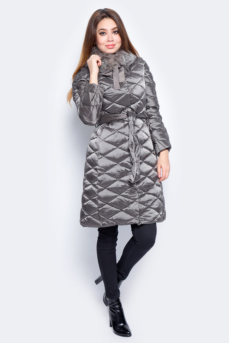 Пуховик женский Baon, цвет: коричневый. B007543_Nut. Размер XL (50) кардиган женский baon цвет черный b147505 black размер xl 50
