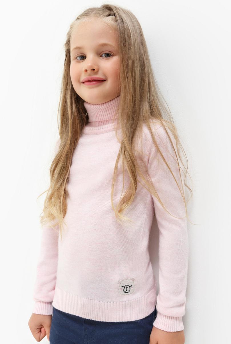 Свитер для девочки Acoola Iceland, цвет: светло-розовый. 20220320023. Размер 128 футболка с длинным рукавом для девочки acoola avon цвет светло розовый 20210100132 размер 164