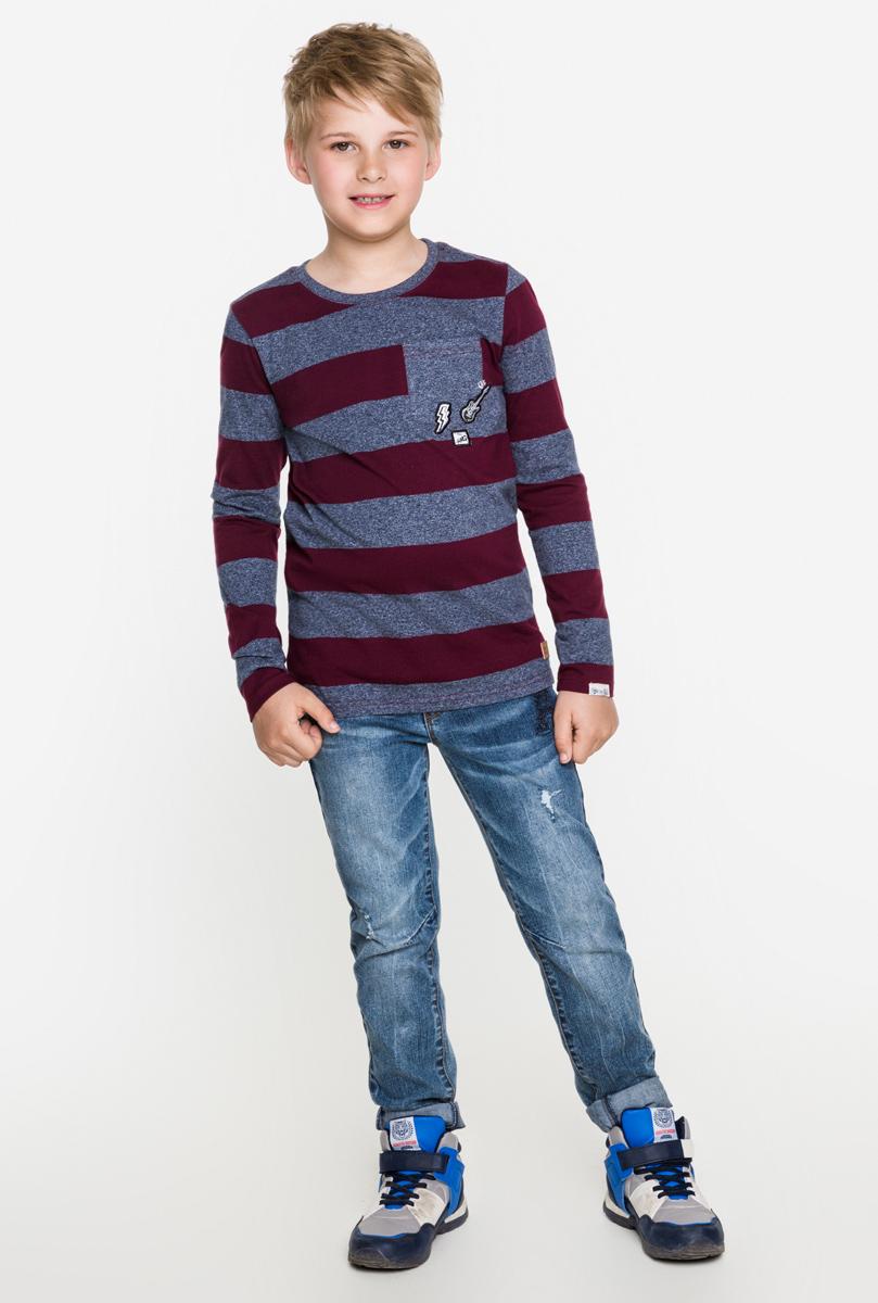 Джемпер для мальчика Acoola Bernina, цвет: бордовый. 20110100089. Размер 15220110100089