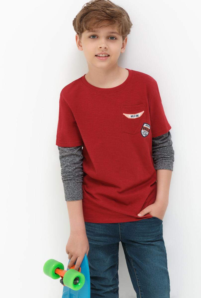 Лонгслив для мальчика Acoola Sopes, цвет: бордовый. 20110100093_1600. Размер 164 кардиган acoola acoola ac008ebnmf36