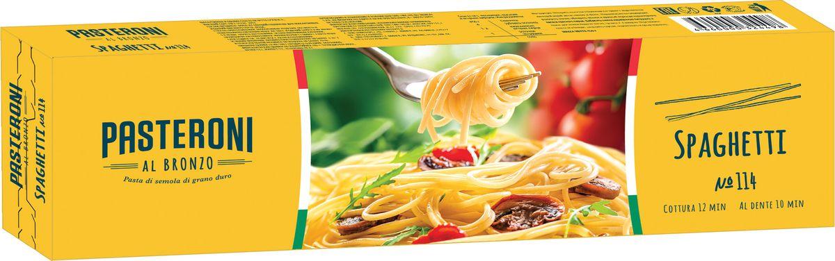 Pasteroni спагетти №114, 450 г4660000324498Макаронные изделия спагетти №114, группа А, высший сорт.Лайфхаки по варке круп и пасты. Статья OZON Гид
