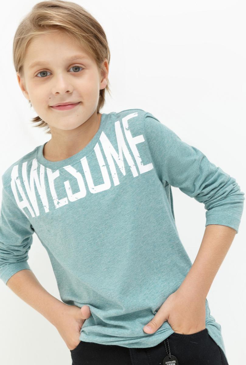 Лонгслив для мальчика Acoola Eavan, цвет: голубой. 20110100097. Размер 13420110100097Лонгслив для мальчика Acoola выполнен из натурального хлопка. Модель с круглым вырезом горловины и длинными рукавами.