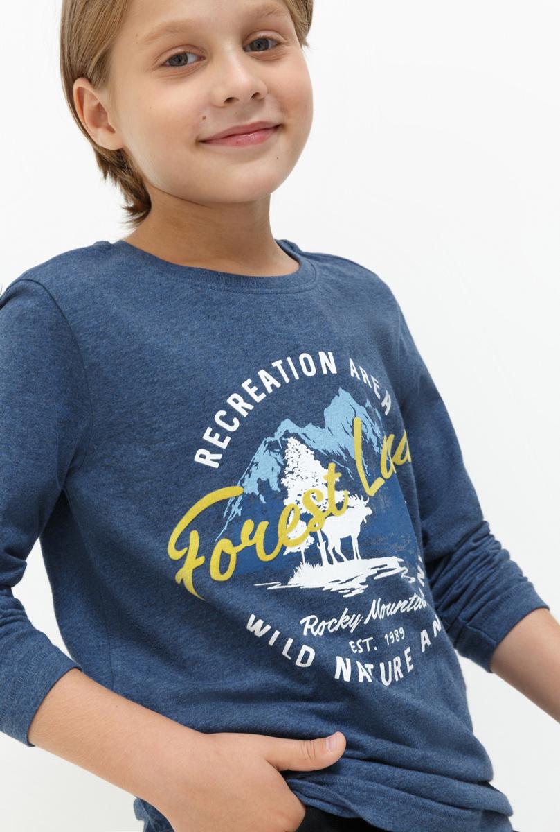 Лонгслив для мальчика Acoola Kieron, цвет: темно-синий. 20110100098. Размер 13420110100098Лонгслив для мальчика Acoola выполнен из натурального хлопка. Модель с круглым вырезом горловины и длинными рукавами.