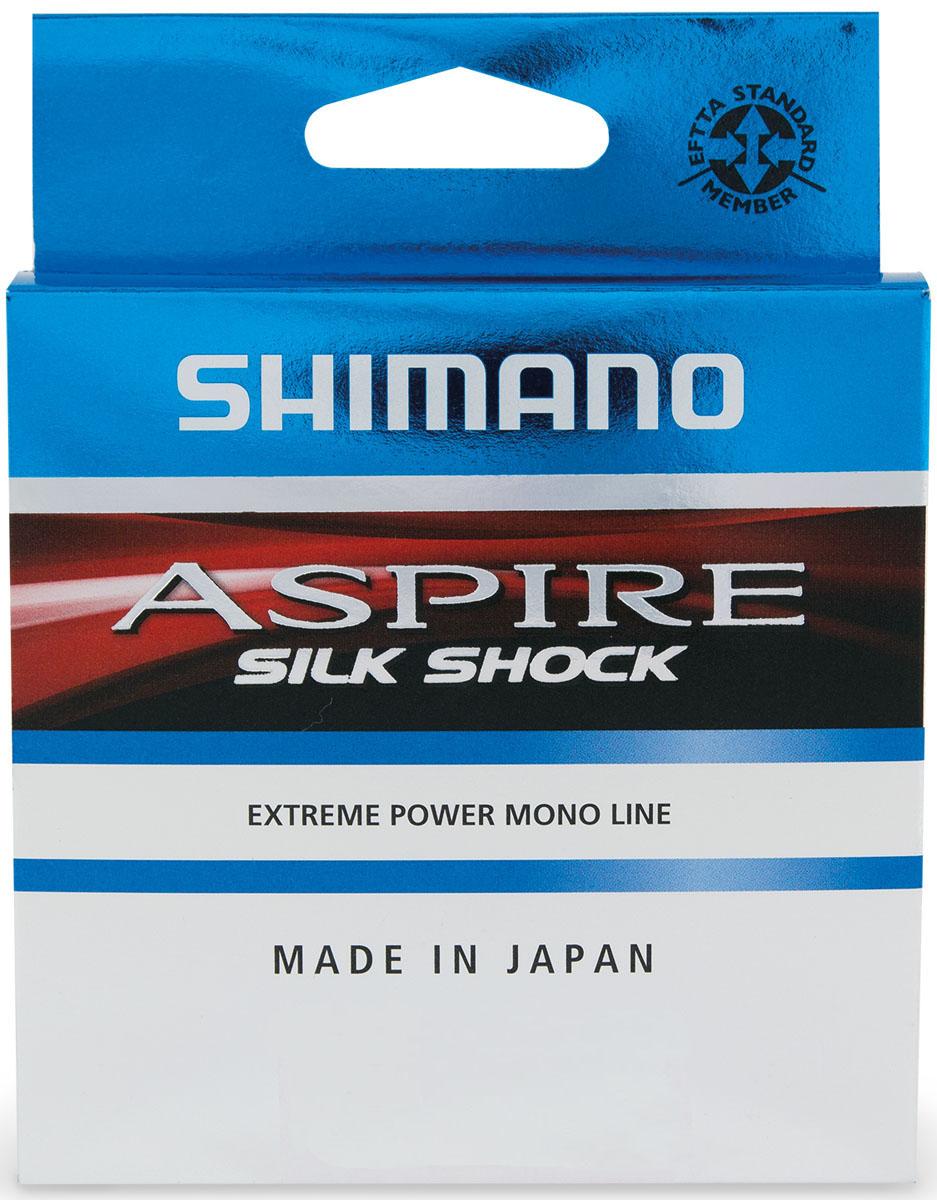 Леска Shimano Aspire Silk Shock, 0,18 мм, 3,6 кгASSS15018SHIMANO Aspire Silk Shock - высококачественная японская леска. Технология Silk Shock сделала возможным достижение невероятной мягкости при ограниченном растяжении и высокой прочности на разрыв. Это великолепная леска для ловли тяжелой бойцовой рыбы на коротких дистанциях. Легко справляется с прыжками, натяжками и рывками. Является любимой леской для рыболовов-спортсменов и в роли основной, и в роли поводочной.
