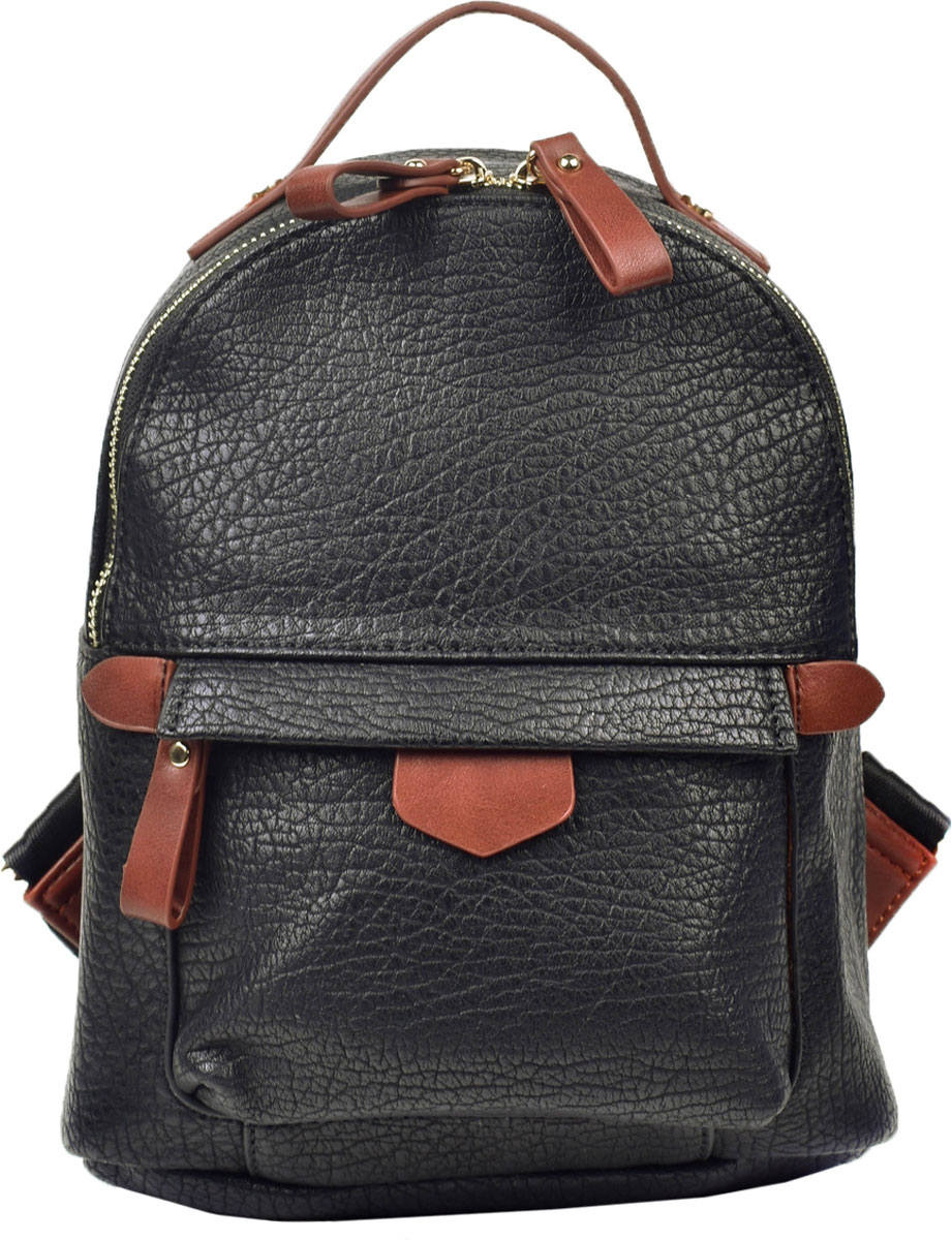 Сумка-рюкзак женская Renee Kleri, цвет: черный. RK419-01 ретро рюкзак мужчина пар рюкзак брезент сумка рюкзак для подростков туризм спортивная сумка кемпинг