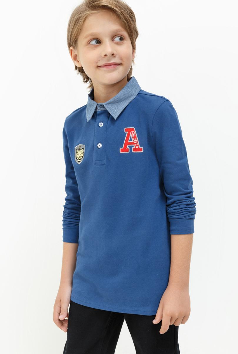 Рубашка для мальчика Acoola Iris, цвет: синий. 20110280054. Размер 15220110280054Рубашка для мальчика Acoola выполнена из натурального хлопка. Модель с отложным воротником и длинными рукавами застегивается на пуговицы.