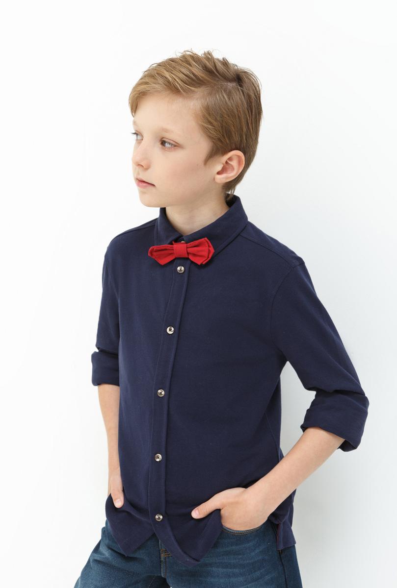 Рубашка для мальчика Acoola Finnan, цвет: темно-синий. 20110280055. Размер 14620110280055Рубашка для мальчика Acoola выполнена из натурального хлопка. Модель с отложным воротником и длинными рукавами застегивается на пуговицы.