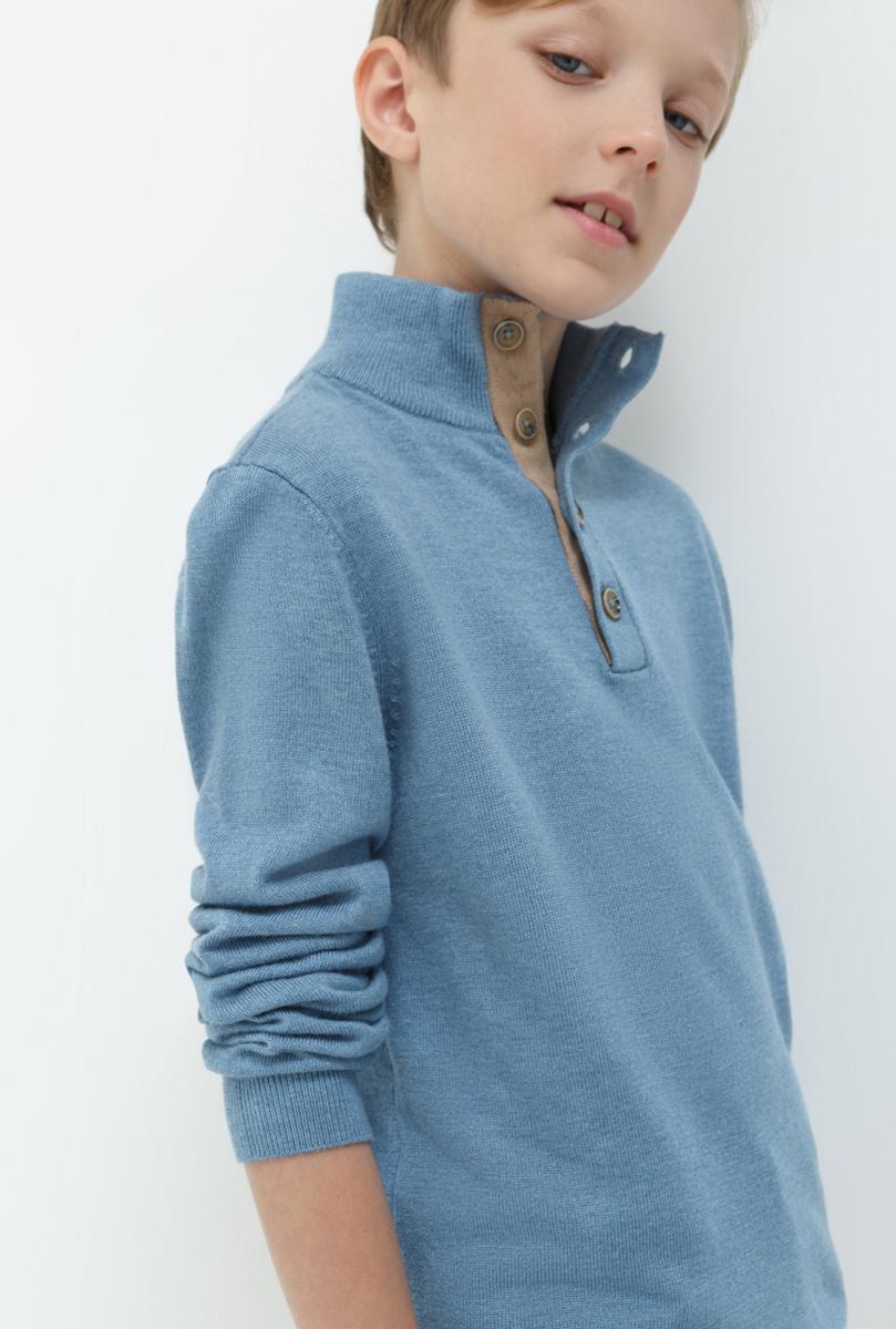 Джемпер для мальчика Acoola Ferrari, цвет: синий. 20110310046. Размер 16420110310046Джемпер для мальчика Acoola выполнен из качественного материала. Модель с воротником стойкой и длинными рукавами.