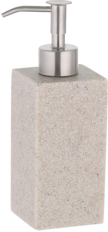 Дозатор Axentia Venedig126691Дозатор Axentia Venedig (Венеция) квадратный для жидкого мыла из полирезина имитация песчаника, цвет бежевый. Насос из нержавеющей стали.Размер 6,5 х 6 х 18 см., Объем 210 мл., Стикер