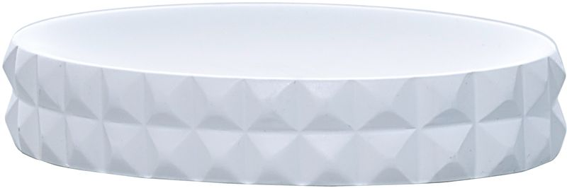 Мыльница Axentia Vegas126771Мыльница Axentia Vegas - аксессуар для ванной, имеющий оригинальный яркий дизайн, выполненный в форме бриллиантов. Изделие выполнено из полирезины. Овальная конструкция удобна для размещения самых распространенных форм кусков мыла. Универсальный белый цвет в сочетании современной формой бриллиантов придают изделию особенную игру теней, блеска и шика. Размеры: 12,5 x 9,5 x 2,5 см