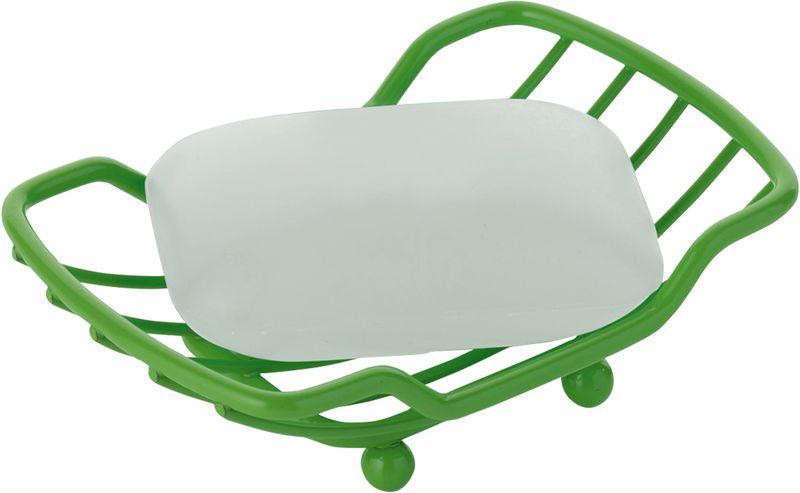 Мыльница Axentia Marbella, цвет: зеленый126844Мыльница Axentia Marbella - незаменимый аксессуар для ванной комнаты. Изделие выполнено из толстой металлической проволоки покрытой высококачественной порошковой краской. Мыльница имеет четыре ножки, не имеет острых углов, безопасна и удобна в использовании. Изделие устойчиво к коррозии. Оптимальный размер позволяет разместить самые распространенные формы мыла. Размеры: 14 x 9 x 4 см.