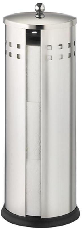 Держатель для туалетной бумаги Axentia Bustino, для 3 рулонов282240Держатель для туалетной бумаги Axentia Bustino - практичный и очень стильный аксессуар, который пригодится в любом доме. Изделие выполнено из хромированной стали и пластика. Благодаря хромированной поверхности мзделие устойчиво к коррозии. Держатель вмещает в себя три классических рулона туалетной бумаги.Размеры: 39,8 х 14,8 х 14,4 см