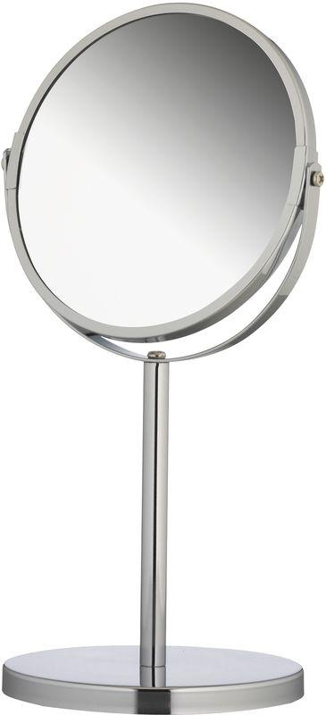 Зеркало косметическое Axentia, настольное, с увеличением282801Косметическое зеркало Del Mare идеально подходит для нанесения макияжа и совершения различных косметических процедур. Корпус выполнен из металла.Одна из сторон изделия увеличивает изображение в два раза, что дает возможность хорошо рассмотреть любые изменения на коже.Поменять стороны можно легким движением руки.Такое зеркало займет достойное место в вашей ванной.