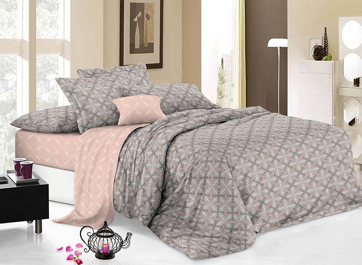 Комплект белья Cleo Вышивка, 2-спальное, наволочки 70х70