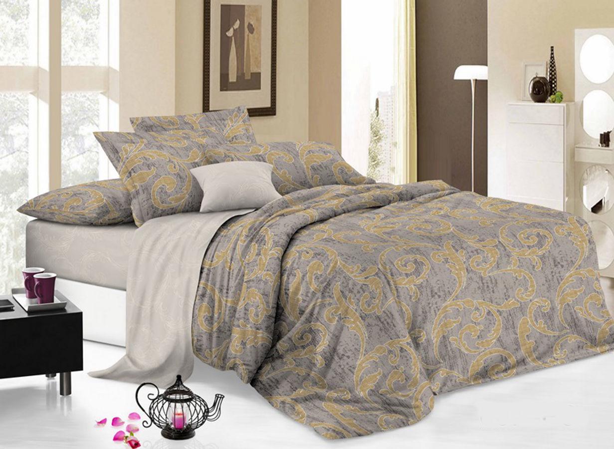 Комплект белья Cleo Меланж, 2-спальный, наволочки 70х70 комплекты постельного белья cleo постельное белье hunter 2 спал