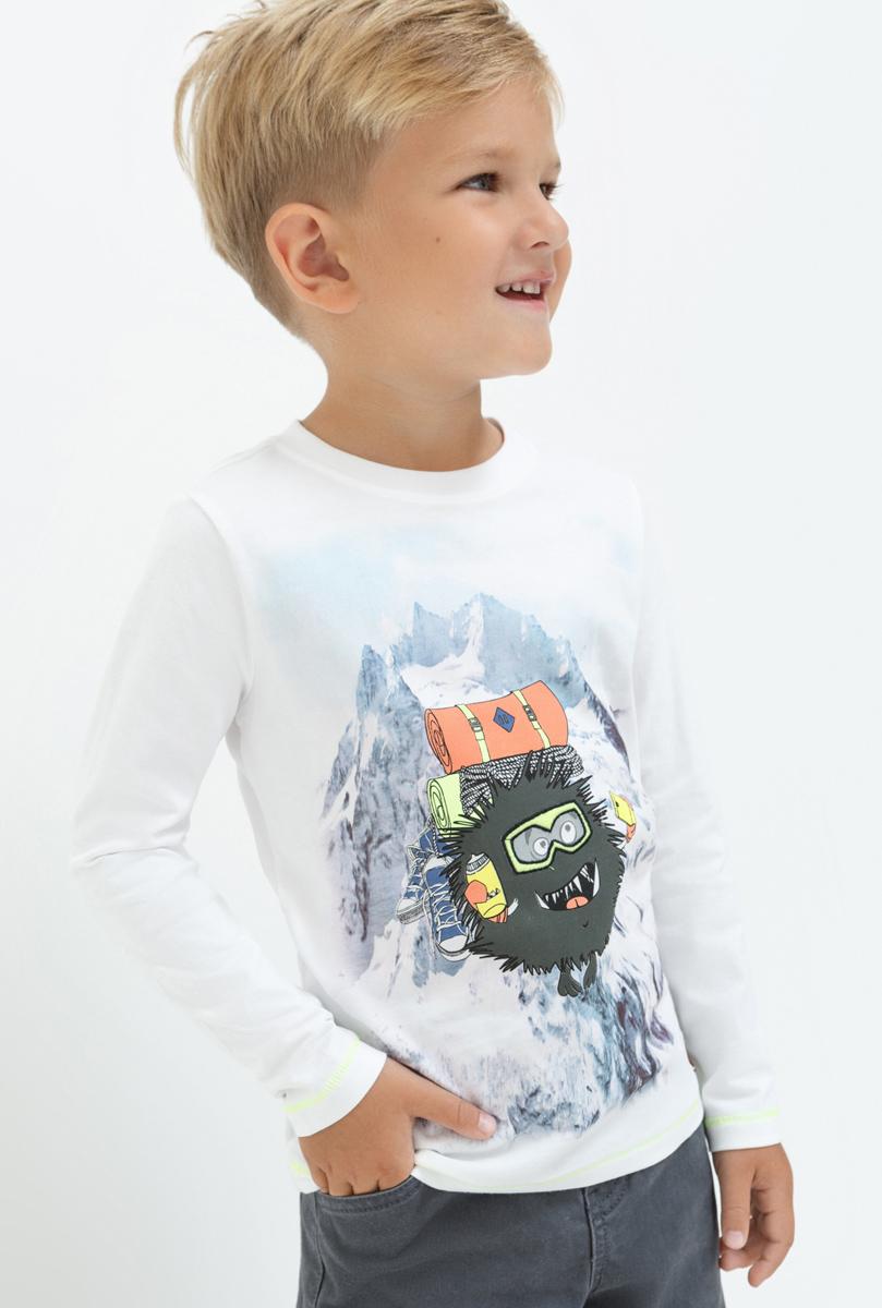 Лонгслив для мальчика Acoola Eoghan, цвет: белый. 20120100102. Размер 9820120100102Лонгслив для мальчика Acoola выполнен из натурального хлопка. Модель с круглым вырезом горловины и длинными рукавами.