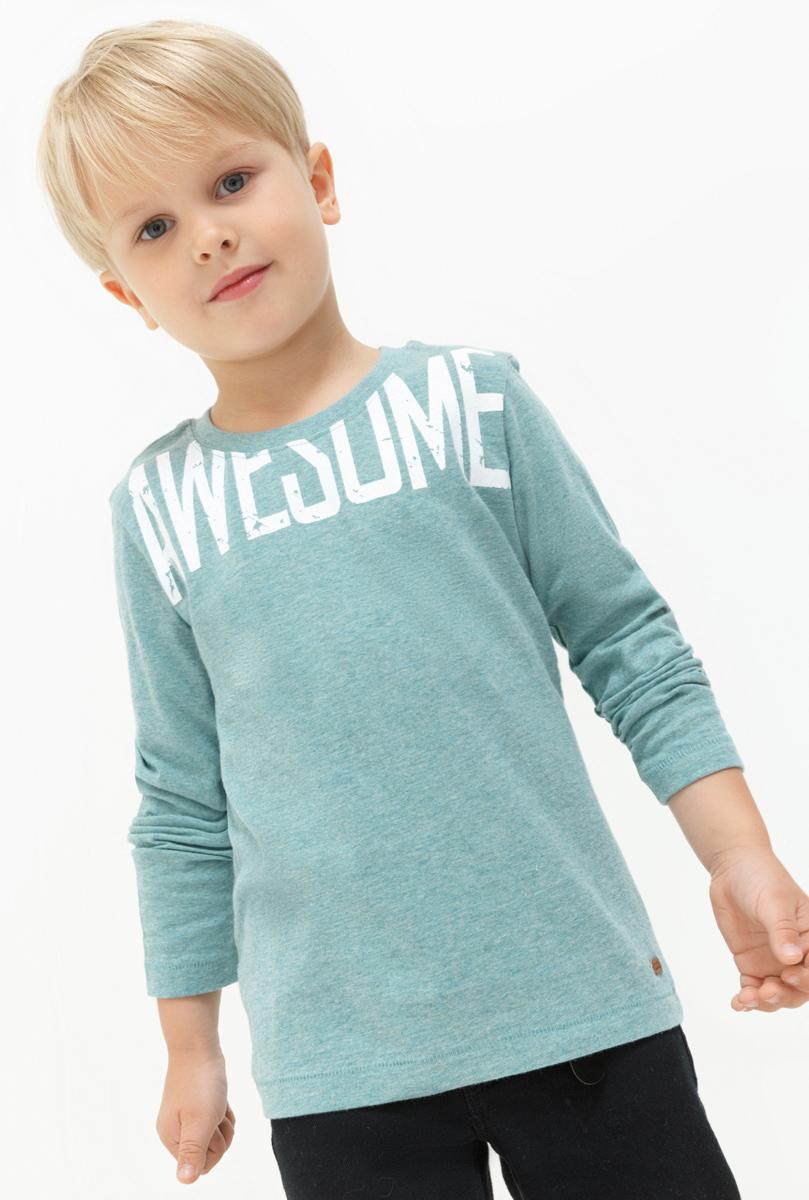 Лонгслив для мальчика Acoola Eavan, цвет: голубой. 20120100105. Размер 10420120100105Лонгслив для мальчика Acoola выполнен из натурального хлопка. Модель с круглым вырезом горловины и длинными рукавами.