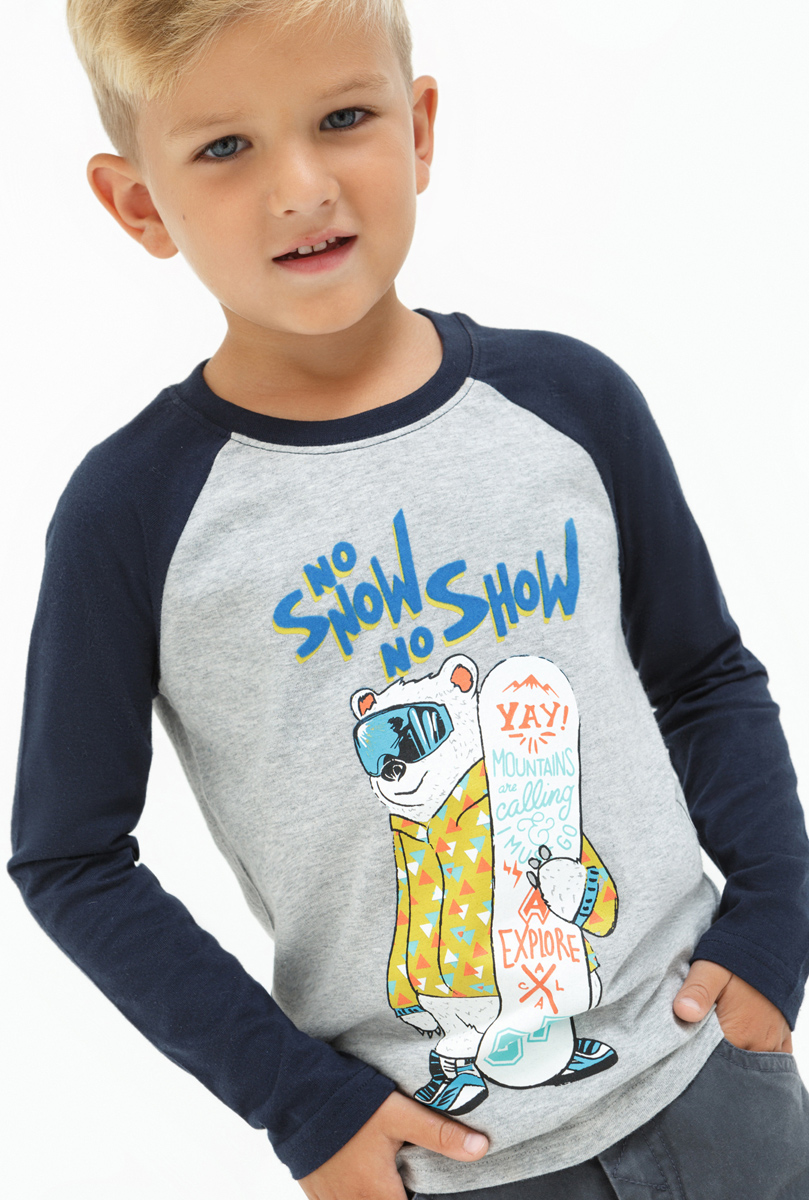 Лонгслив для мальчика Acoola Lean, цвет: мультиколор. 20120100106. Размер 11620120100106Лонгслив для мальчика Acoola выполнен из натурального хлопка. Модель с круглым вырезом горловины и длинными рукавами.